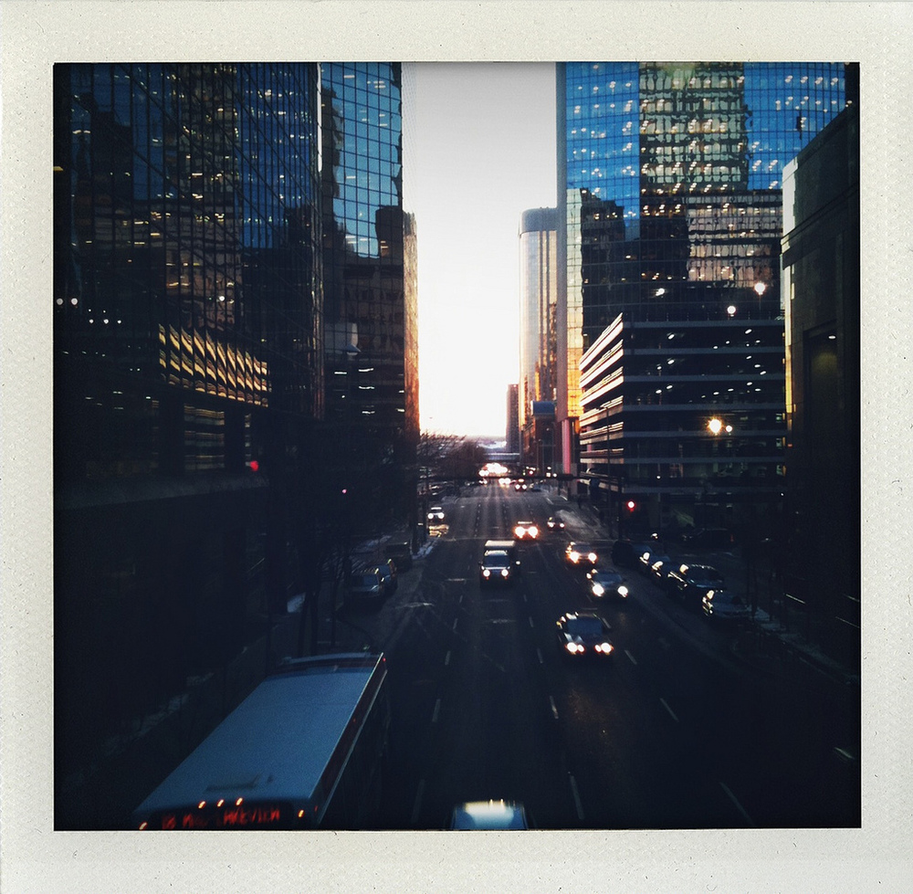 Calgary at dusk