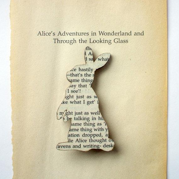 Alice in Wonderland - Rabbit brooch.