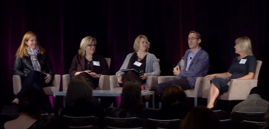 Sharon (second from left) on the CMO Panel at The 3% Conference in San Francisco.