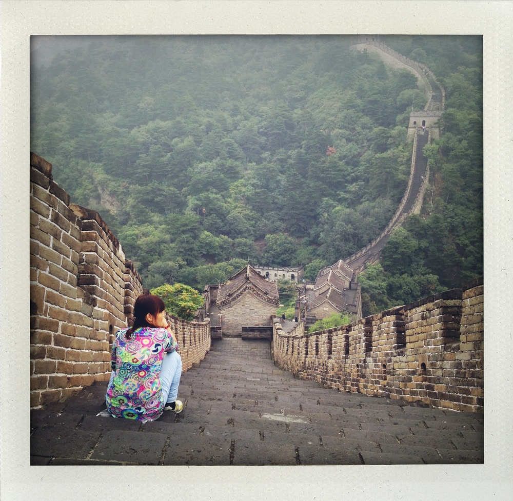 Walking the Great Wall in the mist