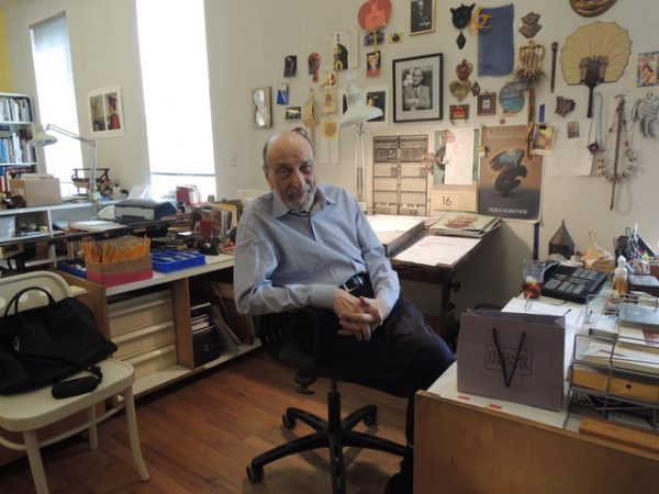Photo OF MILTON GLASER by Leida Snow,  Print Magazine