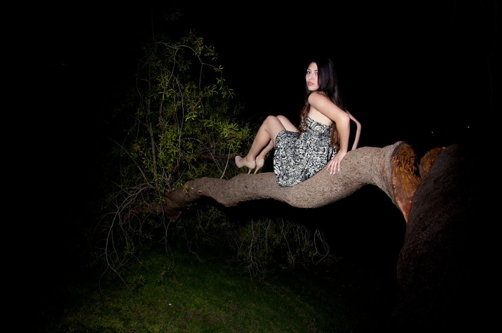 hotpics21 :     Kiana in a Tree, 2014     From the HOT PICS series