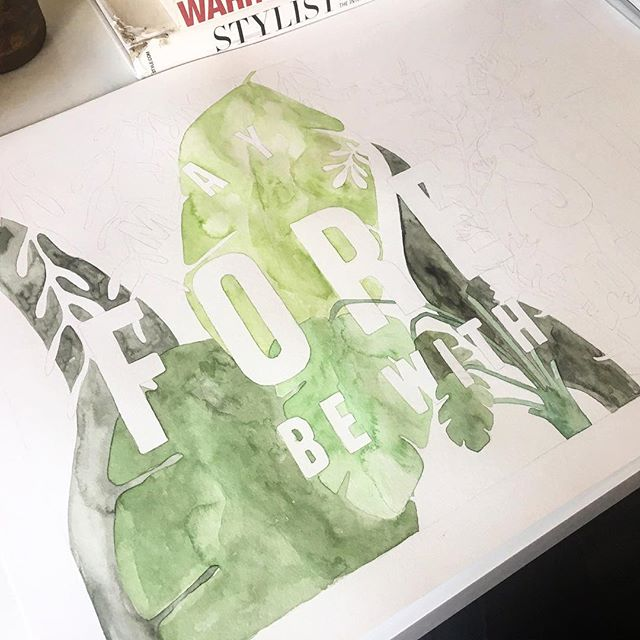 The start of a little something for my tiny forest dweller.  #watercolor#paint#wip#formylittleman#forest#forestdweller#pachamama
