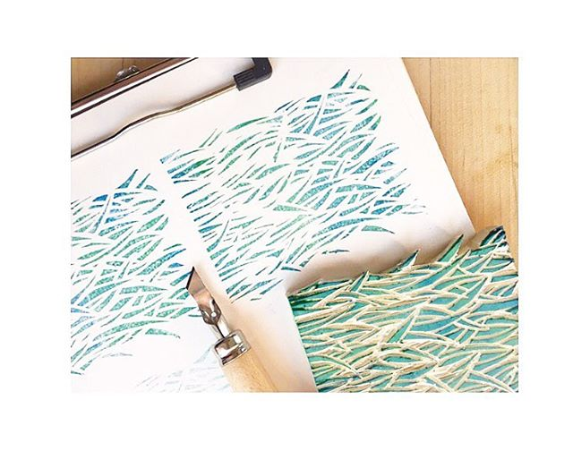 Grass pattern for a new healthy product from our friends @bumblerootfoods . . . . #bumbleroot #grass #stamp #pattern #makersgonnamake