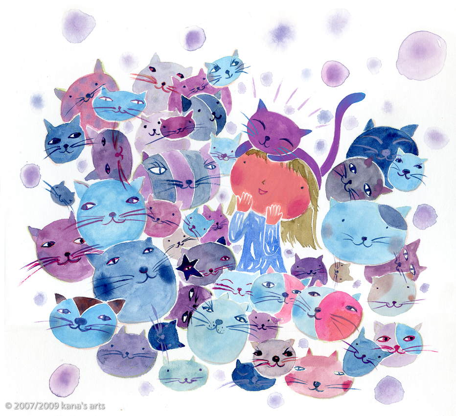 There IS a purple cat