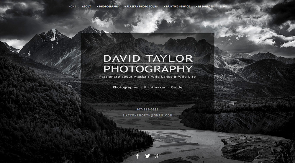 Welcome to the new online home of David Taylor Photography & Sixtyone North Fine Art Printmaking!