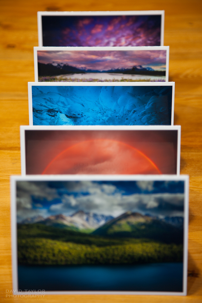 Alaskan Greeting Cards by David Ryan Taylor. Our 'Landscapes' Pack! Just $20 + shipping.