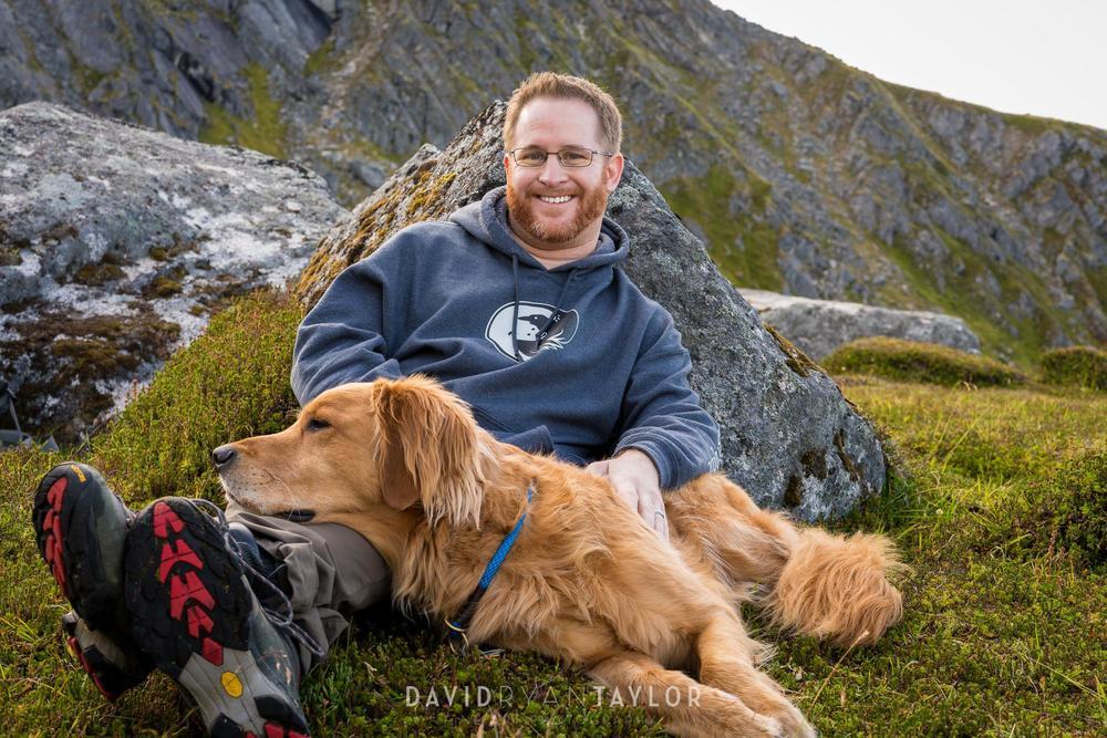 David Taylor, and his dog, Kodi - Hatcher Pass, Alaska