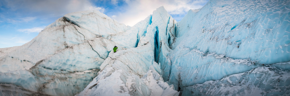 Me. In Matanuska Glacier's icefall. Photo Courtesy Jody Overstreet