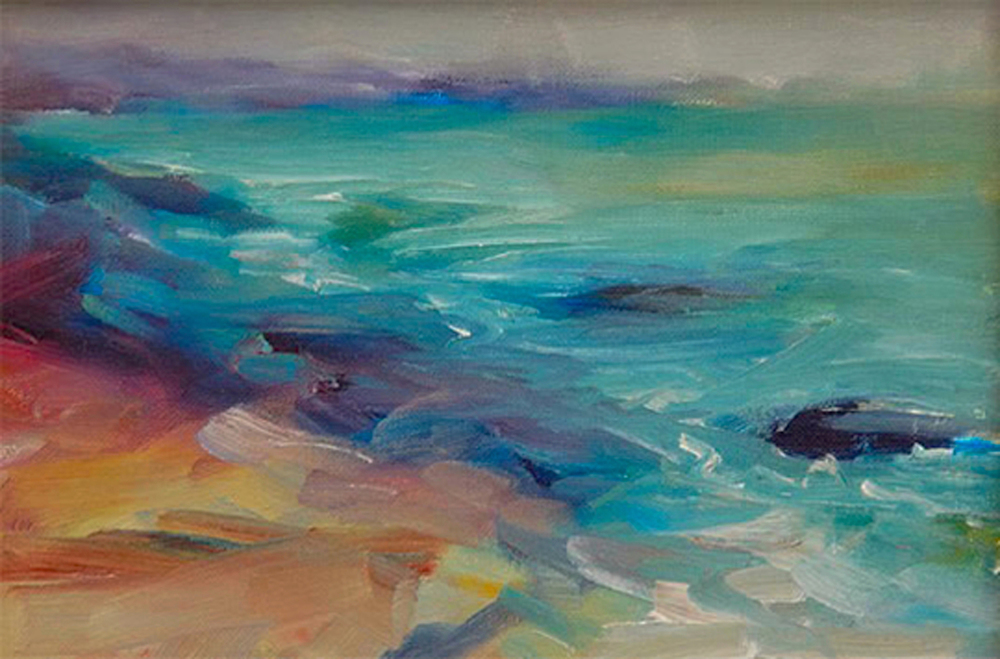 The Sea  Oil, private collection