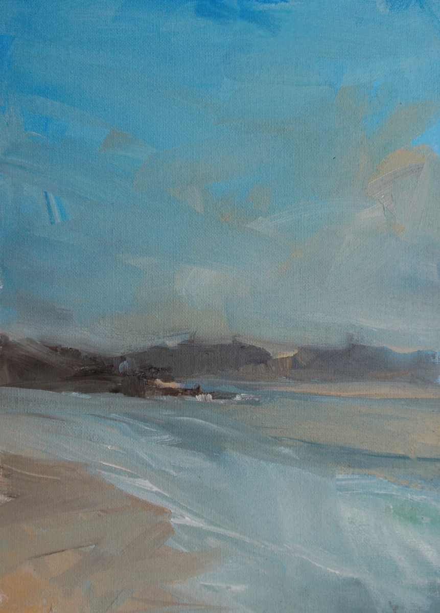 'Carmel By The Sea'   Oil - 35 x25 cm. painted during Plein Air Convention