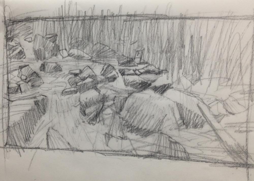 sketch- Mountain Stream