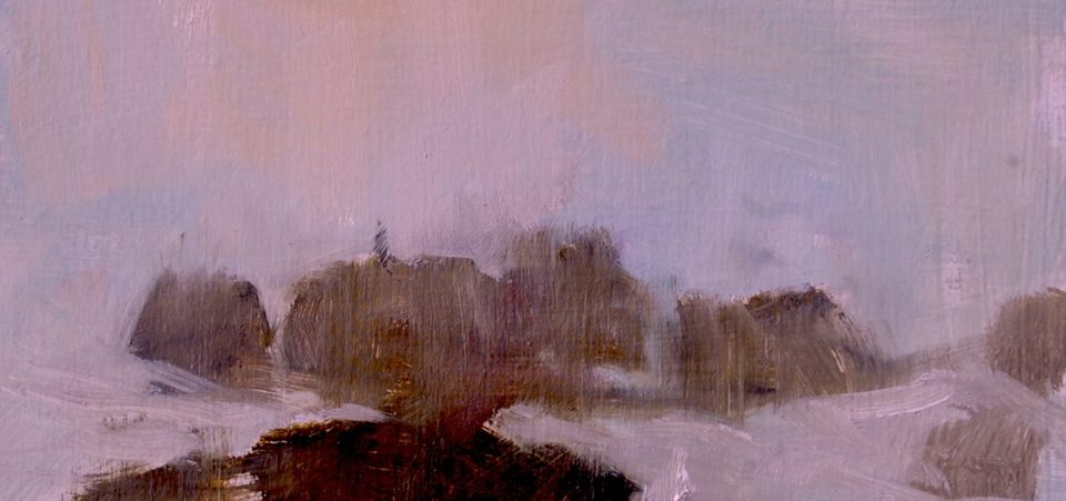 Point Lobos in Mist    11x14 Oil    sold       Contact the Artist about this work