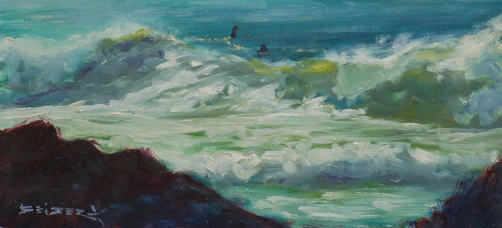 Morning Swell    Oil    6 x 12         Contact the Artist about this work