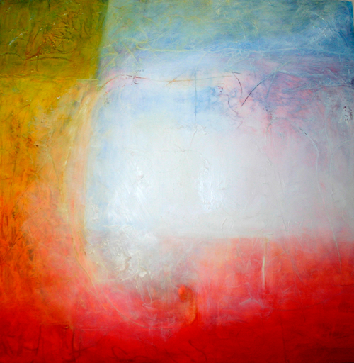 Meditation No. 11, abstract spiritual oil painting on canvas by Zangmo Alexander