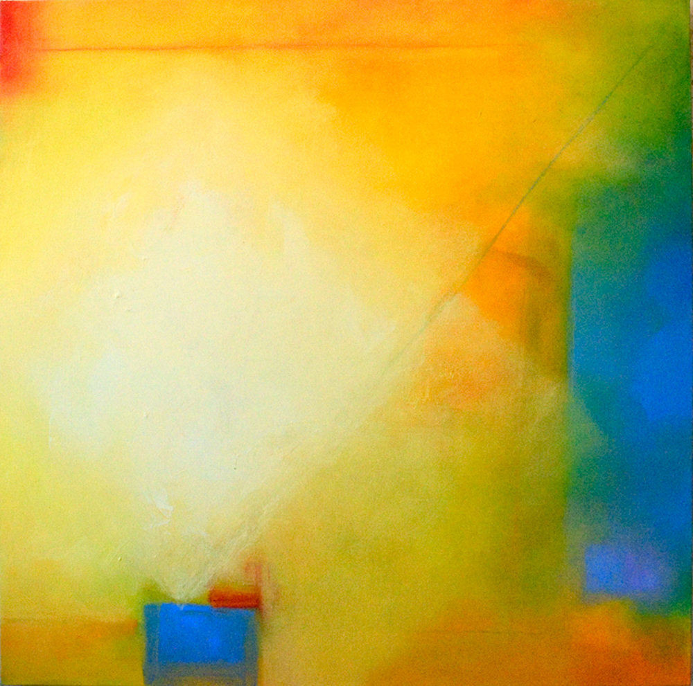 Into the Light abstract oil painting on canvas by Zangmo Alexander