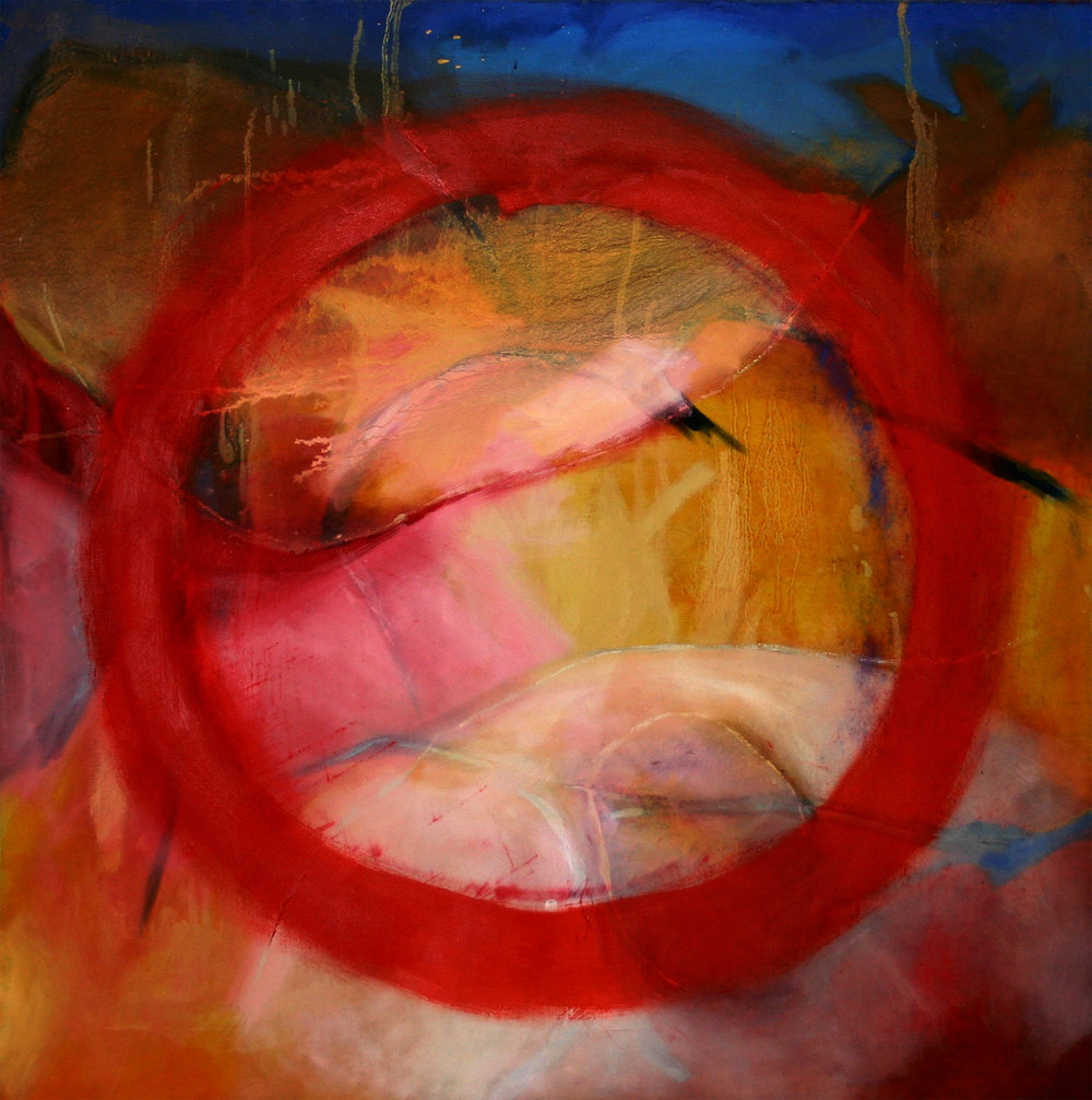 Meditation No 5 abstract oil painting on canvas by Zangmo Alexander