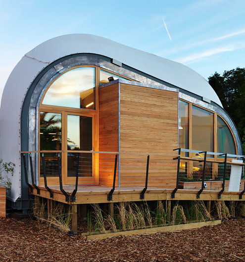 The Techstyle Haus was one of two American entries in the 2014 Solar Decathalon Europe in Versailles, France. Credit Kristen Pelou