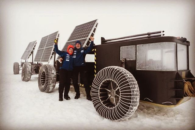 Dutch couple driving 3-D printed solar vehicle to the South Pole! Check out the article @pvilion on Twitter @clean2antarctica #solarvoyager