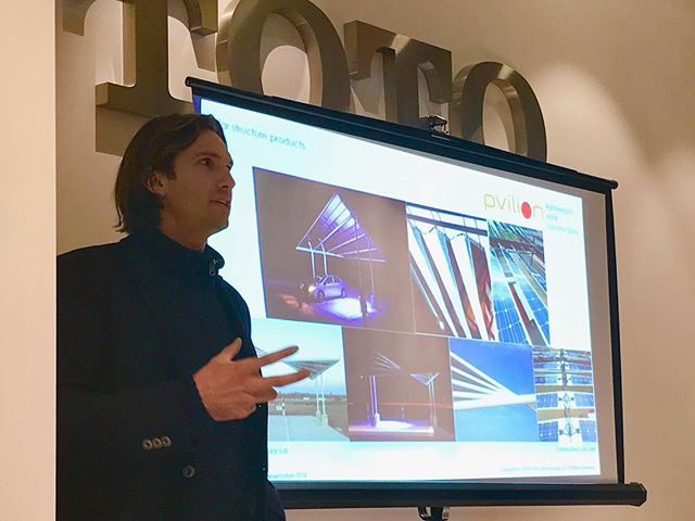 @pvilion CEO, Colin Touhey, was honored to be one of the featured speakers @greenhomenyc January forum @totousa  Great night with great speakers, who shared their passion for a more sustainable NYC! #greenbuilding #greencommunities #solardesign