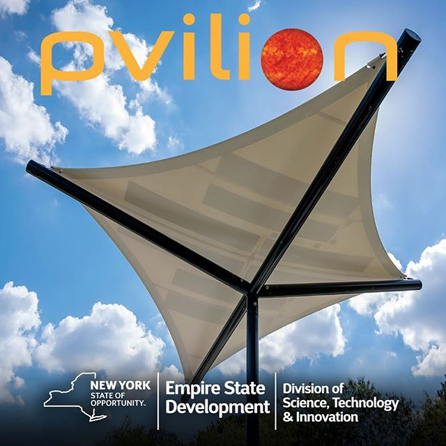 Pvilion has been awarded Defense Diversification Assistance Grant through Empire State Development's NYSTAR Division and, in partnership with NYS Science & Technology Law Center at Syracuse University, is exploring new market opportunities in licensing and broadening its solar fabric technology. Look for lots of new products from Pvilion in the next year!