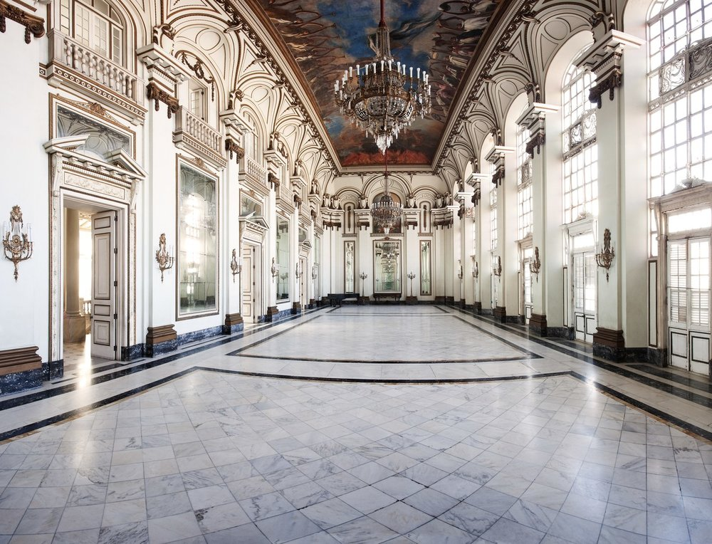 "The Hall of Mirrors in the Presidential Palace, Photography via W Magazine (Photo from ""The Splendor of Cuba: 450 Years of Architecture and Interiors,"" Rizzoli New York, 2011)"