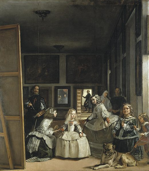 What did the artist draw in this home that connects with Ruth Harman's home?  Fragment by Eunjeong Kim  Click image for more info on Velázquez's (1656) painting.