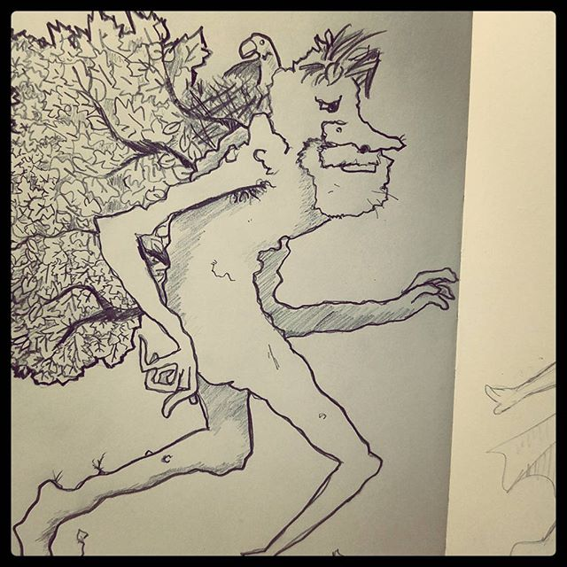 Forest creature wandering. #sketch #sketchbook #drawing #pencil #moleskine #draw #art #artistsofinstagram #artists #inthestudio