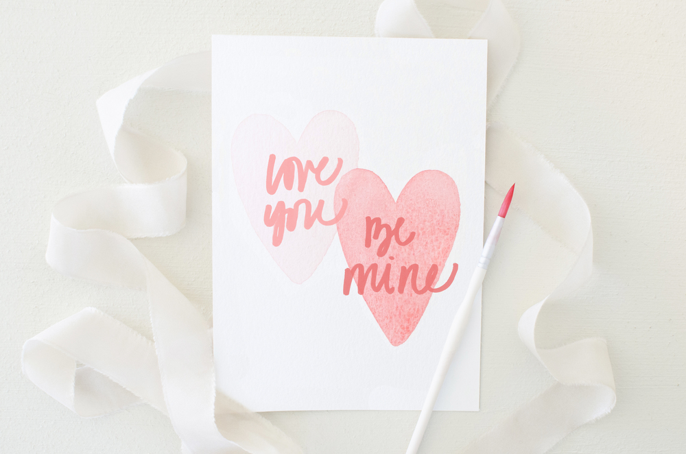 Love You, Be Mine DIY Watercolor Valentine | Katherine Jury Blog.jpg