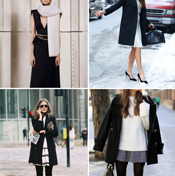 Top Left: Chloé | Pre-Fall 2014 Top Right: Tommy Ton Street Style 2014 Bottom Left: Olivia Palermo photographed by Vanessa Jackman, London Bottom Right: Jessie Chanes of Seams for a Desire
