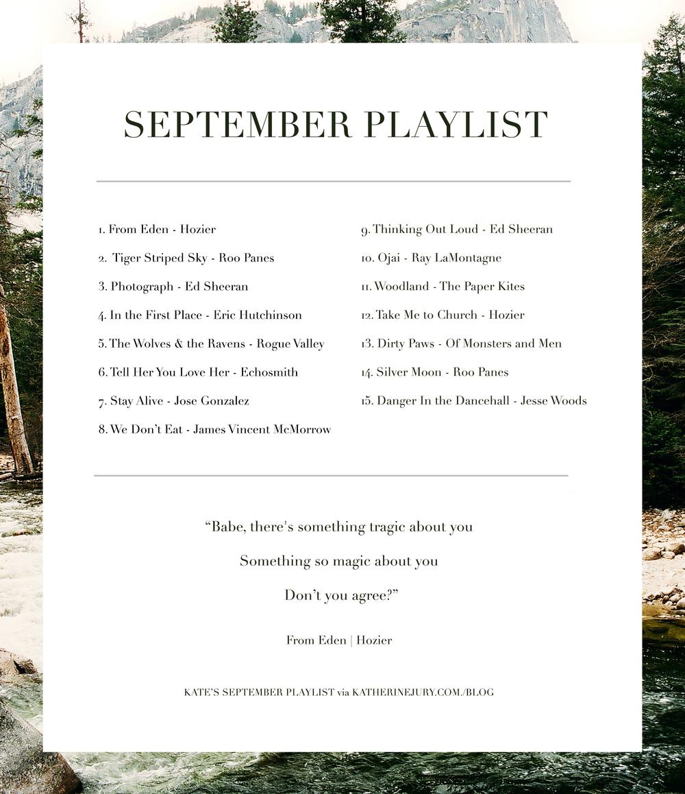 September Playlist via Katherine Jury