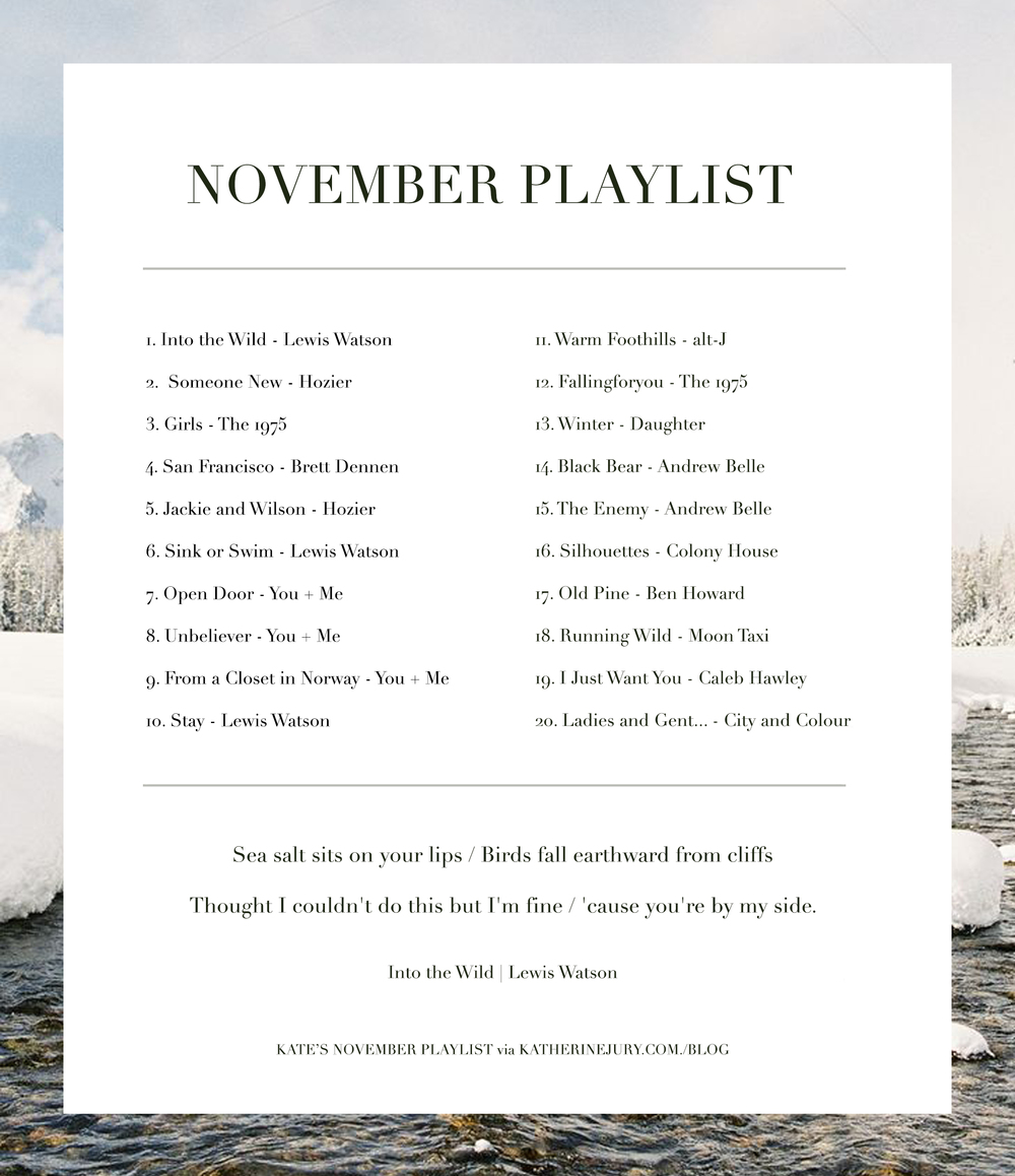 November Playlist via Katherine Jury