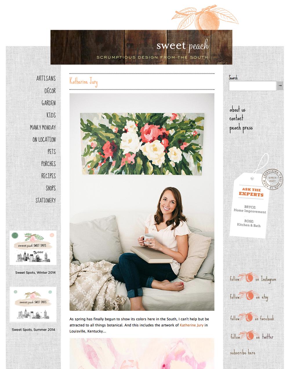 Katherine Jury Featured on Sweet Peach Design Blog