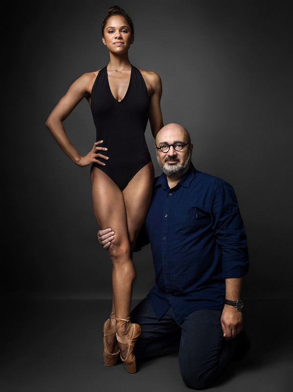 Misty Copeland with photographer Henry Leutwyler for Real Simple