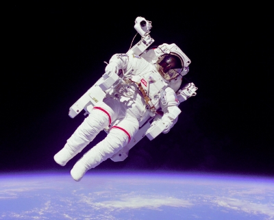 Floatation is the only environment on earth to let you experience how this astronaut is feeling... minus the fear and cumbersome suit obviously!
