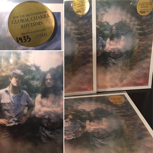 We've got a few of the upcoming #JEFFTheBrotherhood LPs available for pre-order! These are SOLD OUT! Global Chakra Rhythms is a 2xLP album limited to 1500 and pressed on black vinyl.  These will ship to arrive on the 11/13 release date. $30 shipped -- comment to secure a copy.  #vinyl #vinylrecords #vinylporn #vinylforsale #instavinyl #records #recordsforsale #recordcollecting #recordstore #recordcollectors #ilovevinyl
