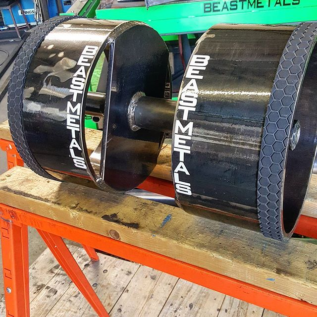 12inch 80lb #beastbell loadable up to 220lbs  #custom #strongman #letmeupgradeyou #crossfit #strongwoman #squats #colors #bench #fitnessmotivation
