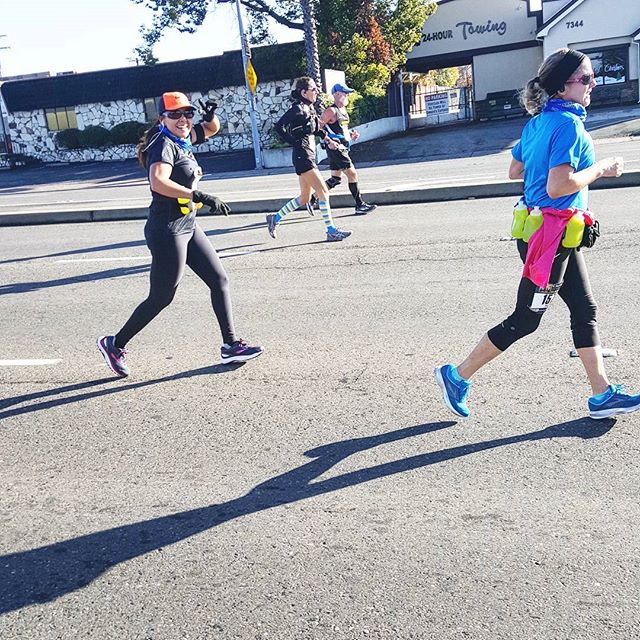 My #wife at the halfway of 26 miles #cim #sacramento #sheberunning #beastwife #beastbuiltthis #beastmetals