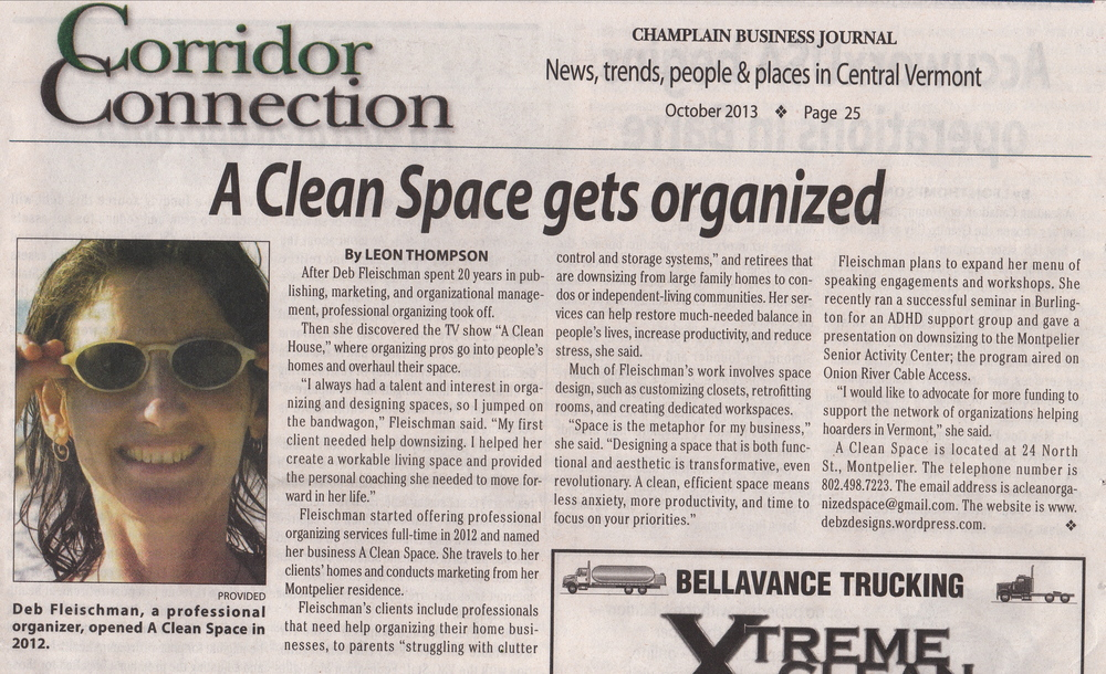 Champlain Business Journal Article—A Clean Space