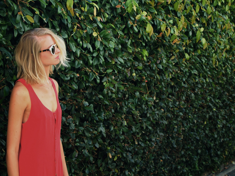 The Willa Dress in Perfect Red