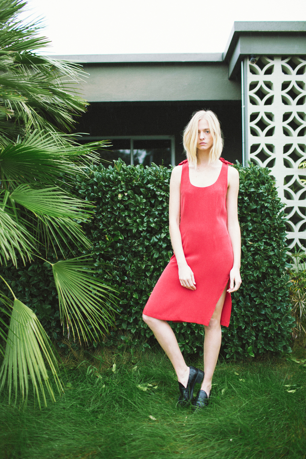 Finn Dress in Perfect Red