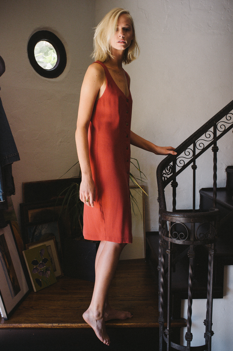 Willa Dress in Perfect Red