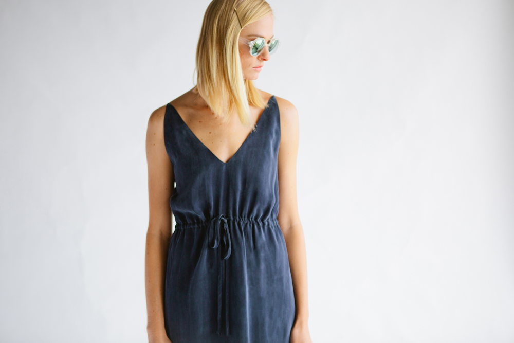 THE ELIOTT DRESS - DISTRESSED NAVY
