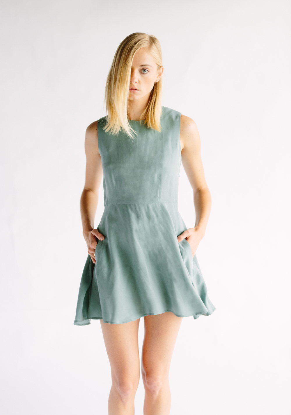 THE IGGY DRESS - SOFT GREEN