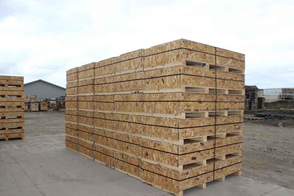 Oilfield flare crates