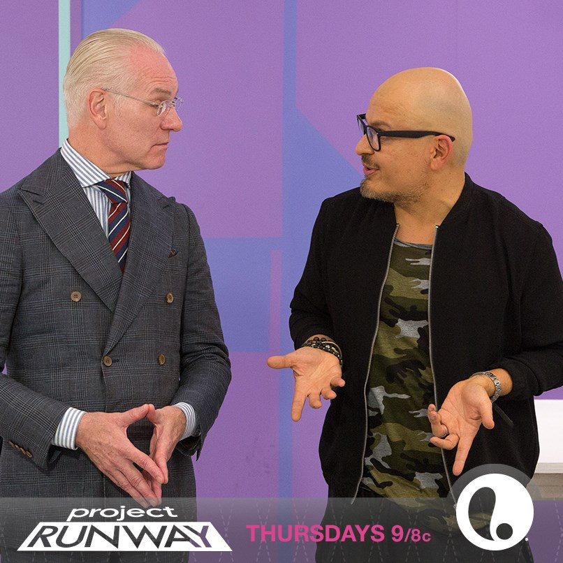 Luis Casco on set with Tim Gunn