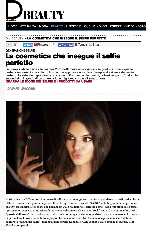 D Repubblica Magazine Italy 10/2016