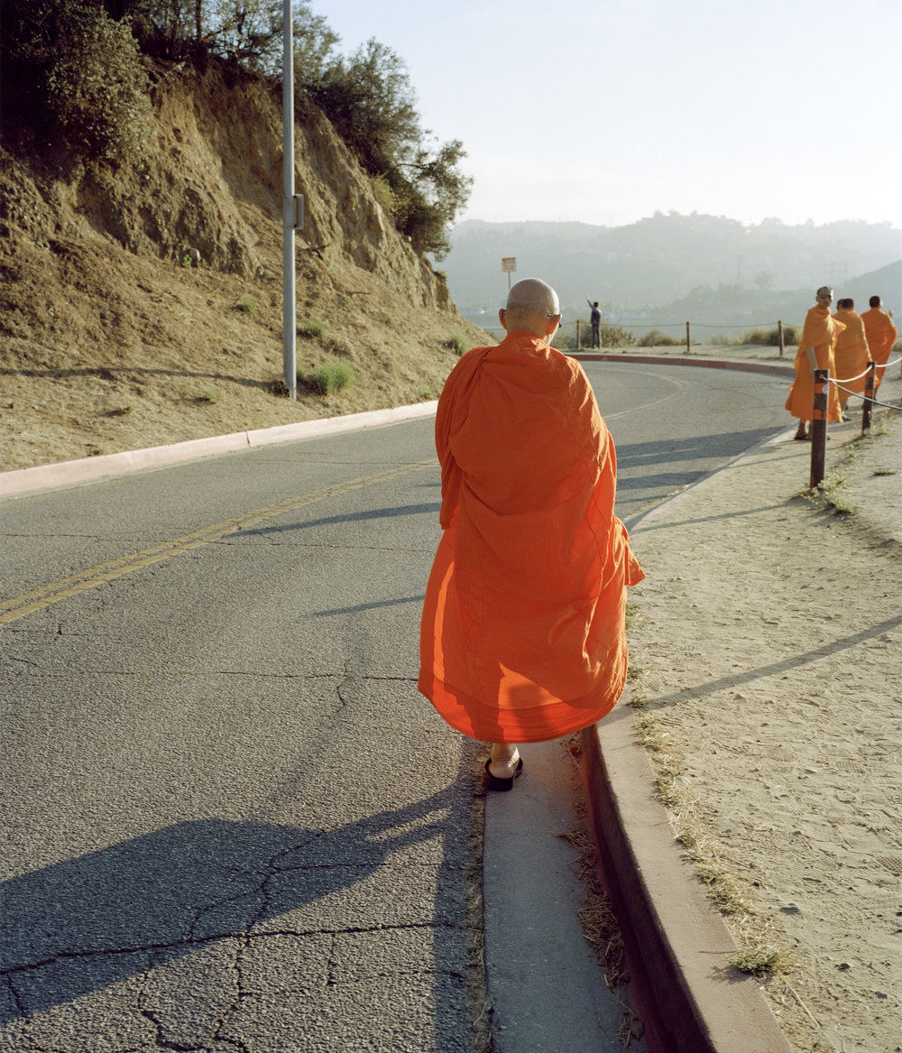 Monk by the Hollywood sign, 2015 891 x 741mm