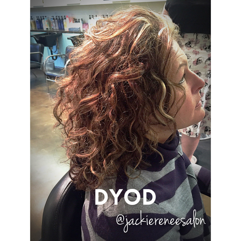 Mary styled her hair curly!