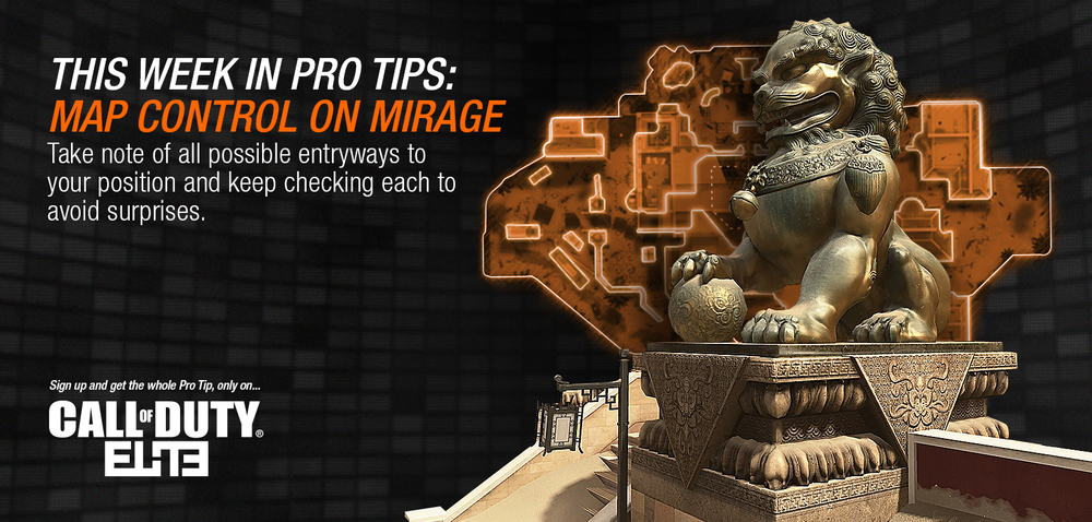 """Pro Tips: Mirage"" Call of Duty ELITE Web Banner Series"
